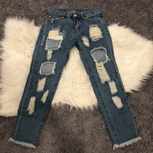Denim - Distressed jeans - size small (0/2)